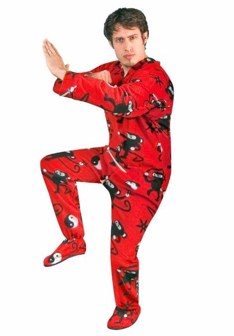 Ninja Monkey Fleece Footed #Pajamas