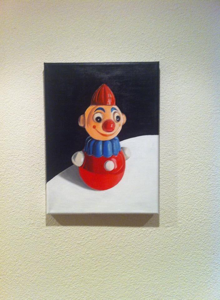 acryl on canvas 30/40 cm For Sale