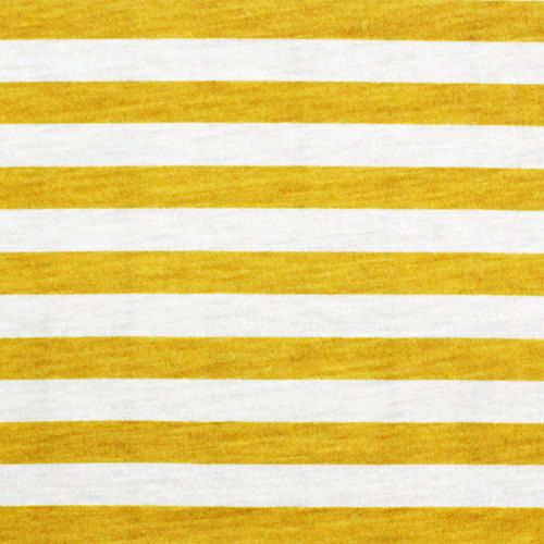 774b7371096 This item is unavailable. Mustard Yellow and White Small Stripe Cotton  Jersey Blend Knit Fabric
