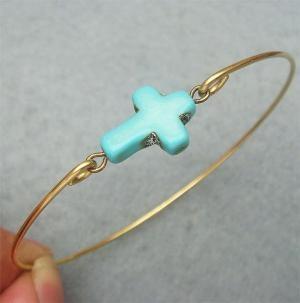 : Crosses Brass, Turquoise Crosses, Brass Bangles, Turquoi Crosses, Bangles Bracelets, Classic Turquoise, Bangle Bracelets, Cross Bracelets, Crosses Bracelets