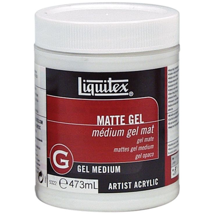 Reeves Liquitex Matte Acrylic Gel Medium-16oz - 16oz