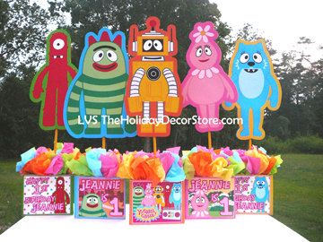 "DIY 24"" inch Yo Gabba Gabba birthday party Centerpiece Personalized Print-Out"