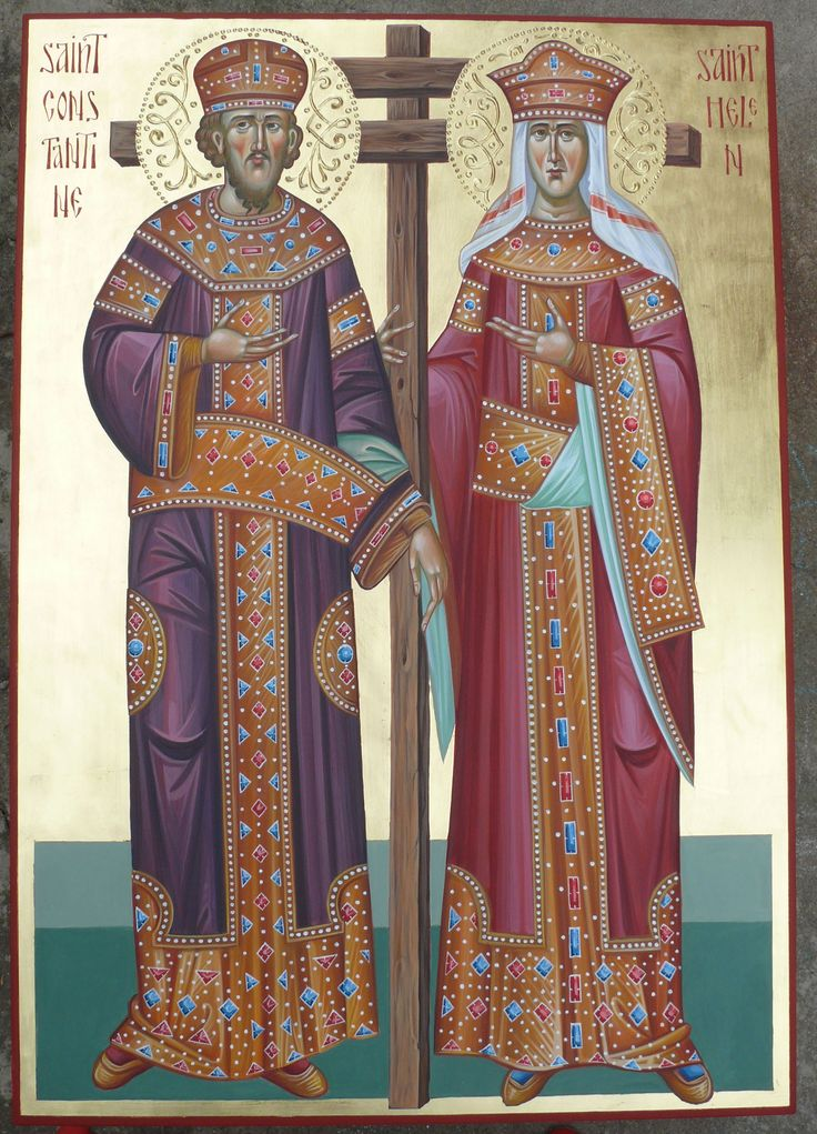St. Konstantine and St. Helen icon hand painted by Georgi Chimev