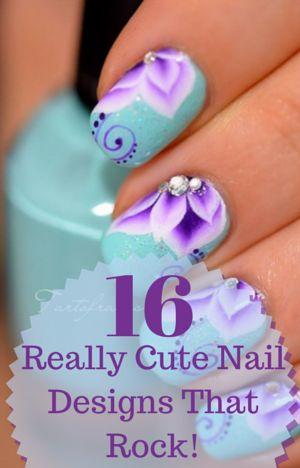 See 16 REALLY Cute Nail Designs That Rock!  - Allresources.info #nails #Nailart #naildesign