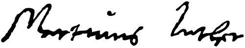 Marthin Luther's signature