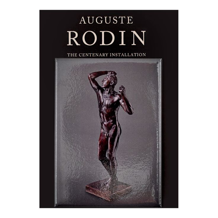 Legion of Honor Store - Auguste Rodin, The Age of Bronze,1877, cast ca. 1914. Bronze.Magnet.