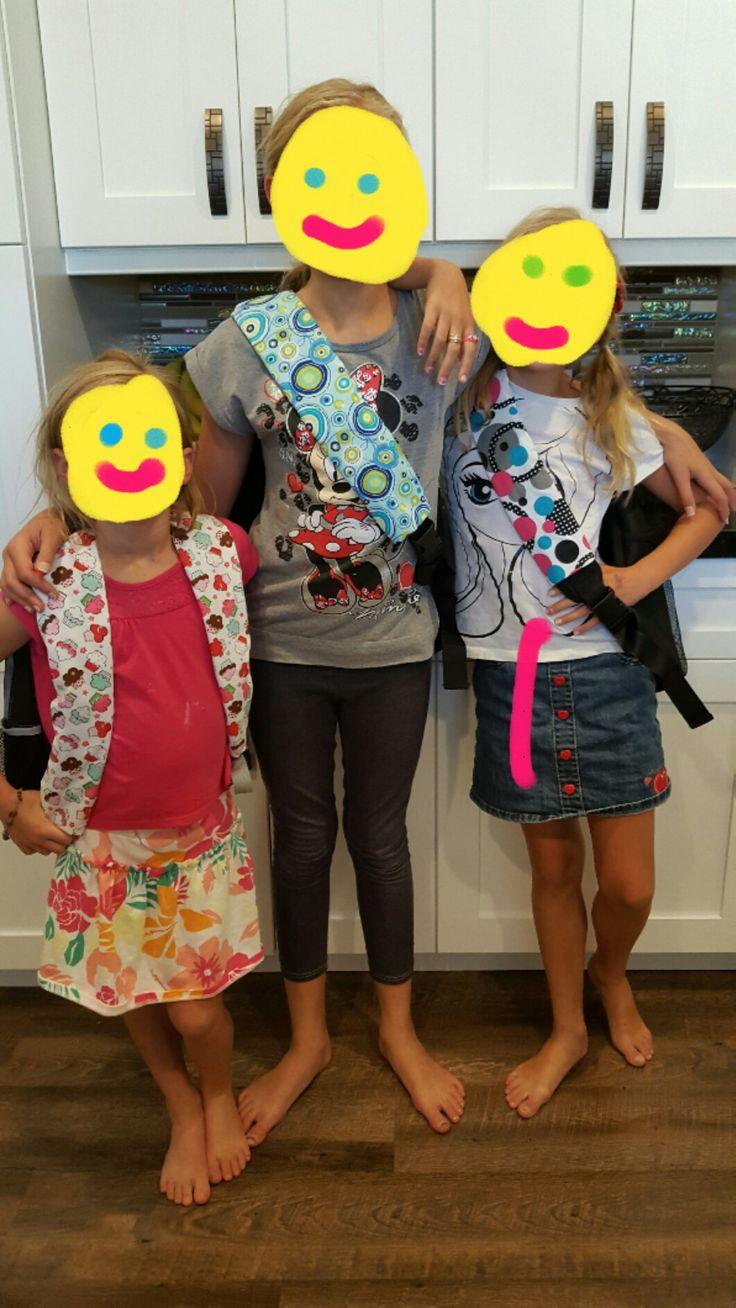 School bookbag strap sleeves to decorate backpack