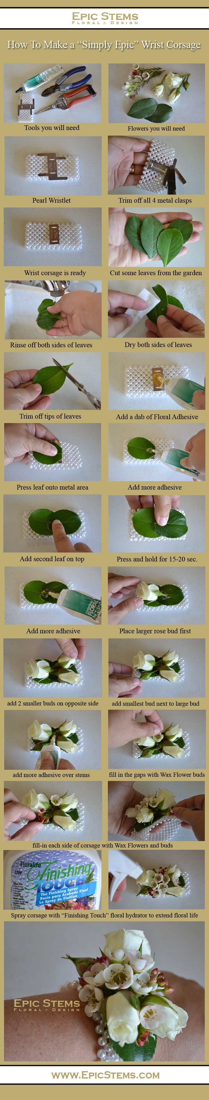DIY出来る!手元が100倍可愛くなる『リストブーケ』の作り方♡にて紹介している画像