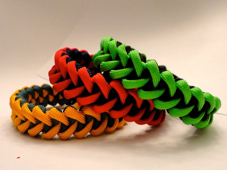 paracord bracelets. always good to have some of this on you.