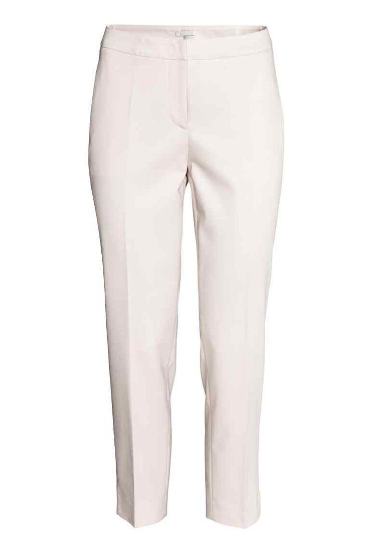 Kostýmové nohavice - svetlobéžová - ŽENY | H&M SK