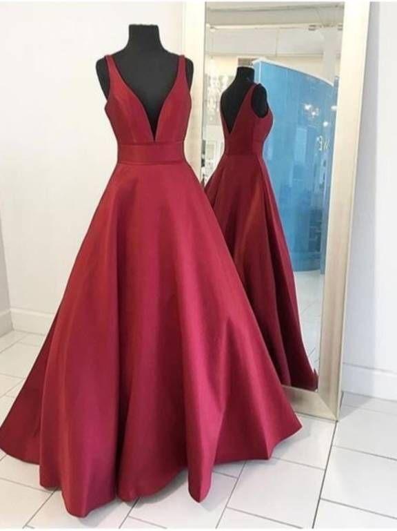 Vestido Marsala De Festa Gowns Em 2019 Vestidos