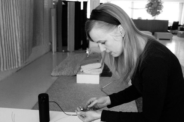 Minna Ahokas has been working in design and product development at Woodnotes since the beginning of 1994.