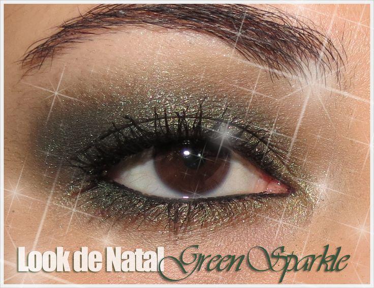 Makeup Look (Christmas Series): Green Sparkle