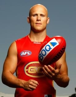 Gary Ablett Jnr, Geelong star now Captain of Gold Coast Suns. Winner of the 2013 Brownlow Medal