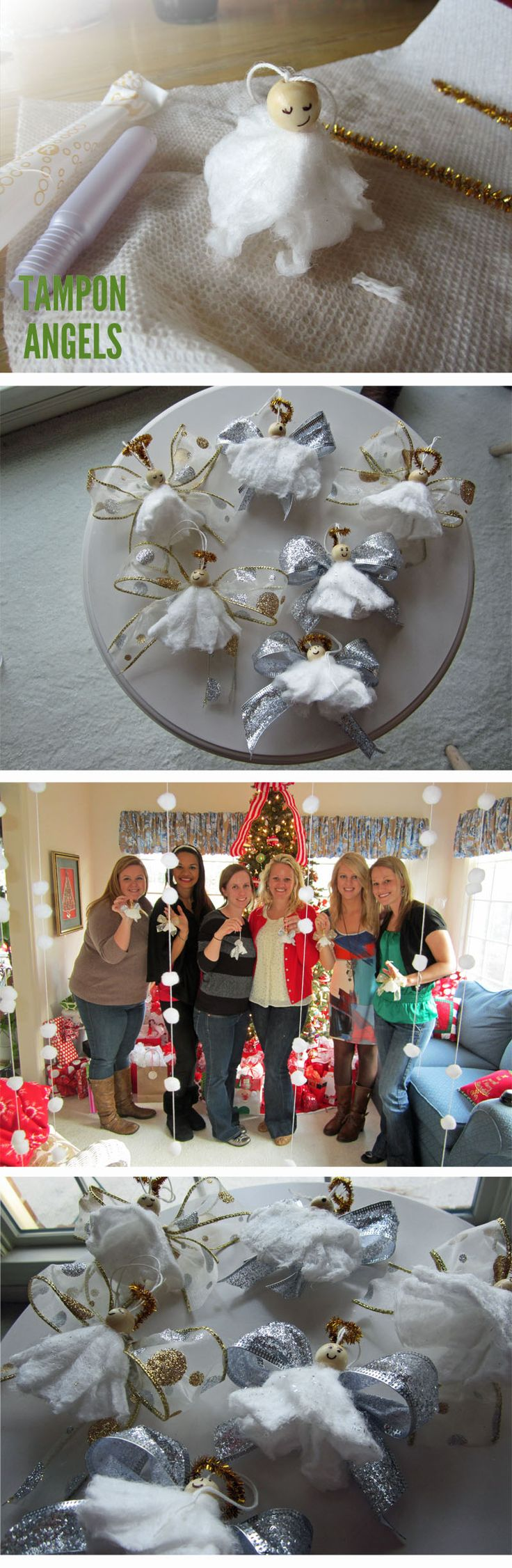 Tampon Angles!!!  How funny!!  at least that's a creative use for them ;0)
