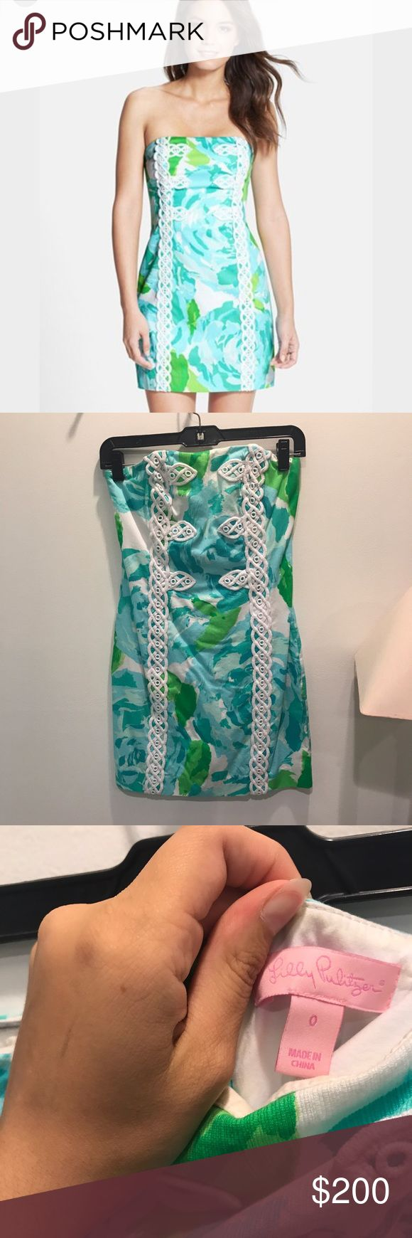Lilly Pulitzer Tansy Dress Super cute. Worn once for Carolina cup. Shoot me an offer! Lilly Pulitzer Dresses Strapless
