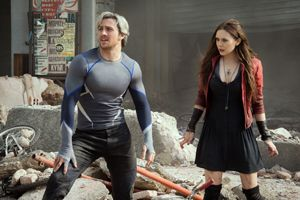 Aaron Taylor-Johnson and Elizabeth Olsen as Quicksilver and Scarlet Witch - Quicksilver (comics) - Wikipedia, the free encyclopedia. Love Pietro and Wanda!!
