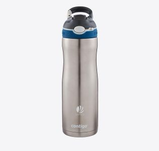 Engraved Contigo® Ashland Chill Sports Bottle. Stainless Steel With  Carabiner Clip590 ml