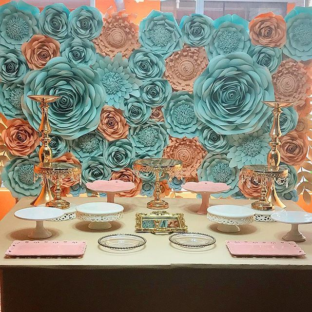 Paper Flowers Deco/ / Graduation Party   Backdrop Deco / Table Deco  #PaperflowersDesign  #PaperflowersDeco  #PartyDeco