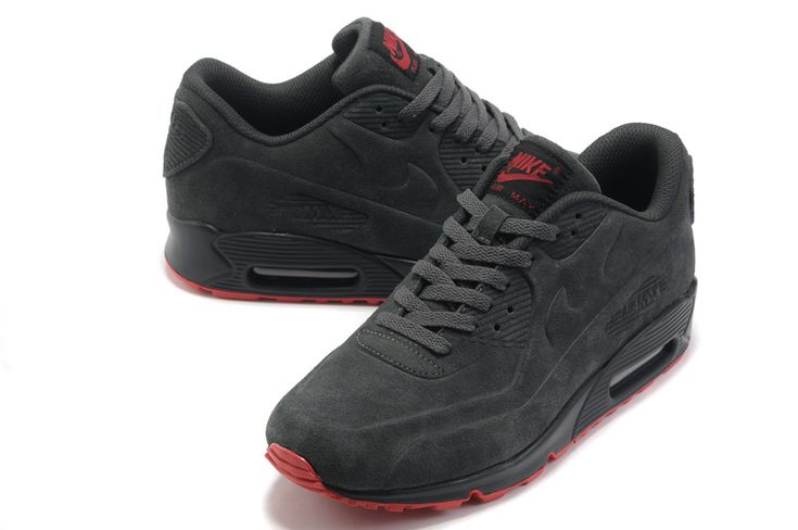 Nike Air Max 90 Homme Chaussures Dim Gris Rouge