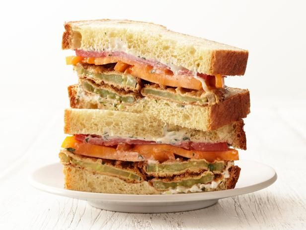 Get Fried Green Tomato Sandwiches Recipe from Food Network