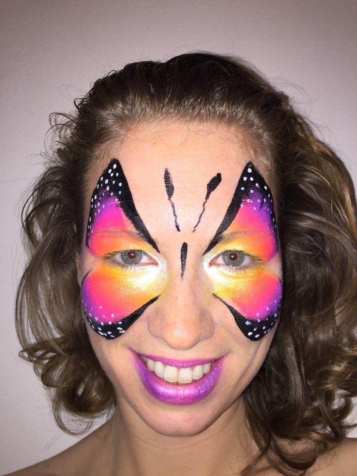 Butterfly face paint - farfalla truccabimbi- schminken vlinder