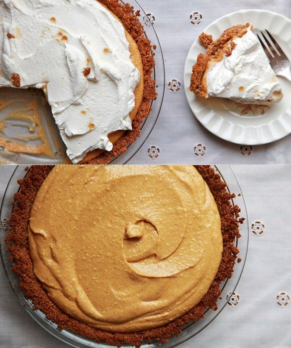 Pumpkin Cream Pie--a fantastic and easy alternative to the usual stand-by