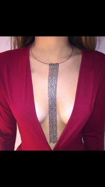 Multiple strand choker Wraps around the neck