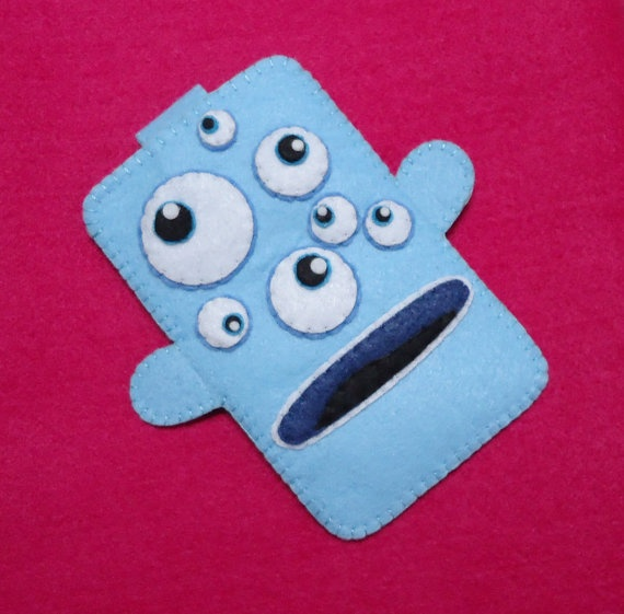 Multieyed Monster CASE  iPhone Case  Cell by kawaiifeltcrafts, $10.50