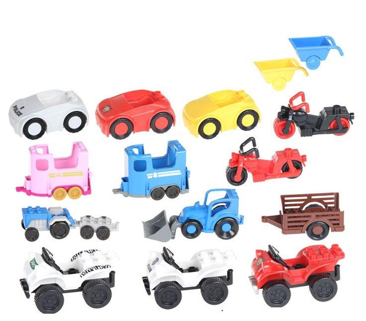 Duplo bus car Helicopter mini figures model building kits Bricks Blocks original compatible lepin duplo train kid education toys