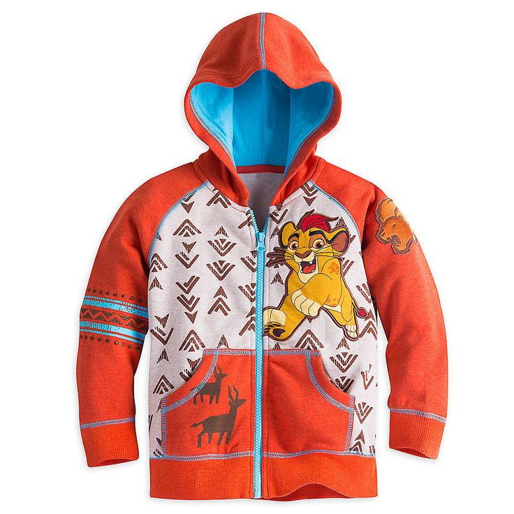 Disney Store Lion King: Simba The Lion Guard Zip Hoodie - Boys Size:2 #Disney