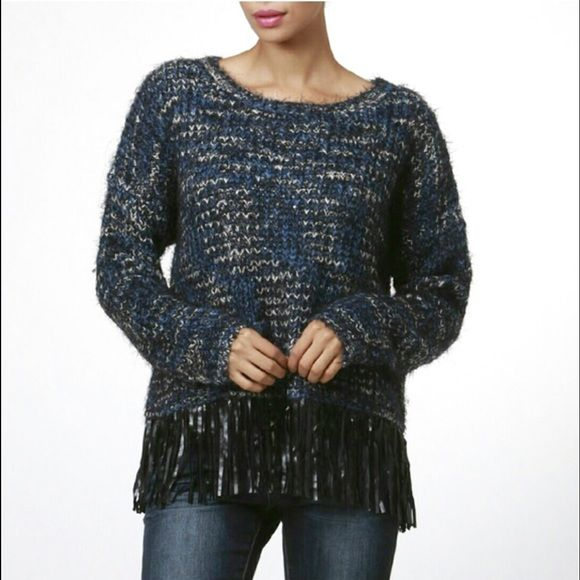 Moon Collection Fringe Sweater Moon Collection Fringe Sweater - There are 5 available - 2 small, 2 medium, 1 large Moon Collection Sweaters Crew & Scoop Necks