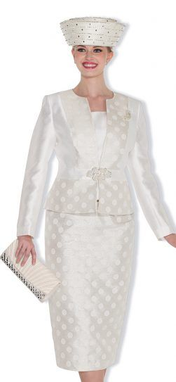 Champagne Italy 5018 3pc Skirt Suit Color: Metallic/Light Blue, Metallic/Off White Sizes: 8, 10, 12, 14, 16, 18, 20, 22, 24, 26 Matching Champagne Italy Hat/Purse Combo 5018H http://www.divasdenfashion.com/Champagne-Italy-5018-p/cha-5018.htm #DivasDenFashion #ChampagneItaly #Champagne #Spring