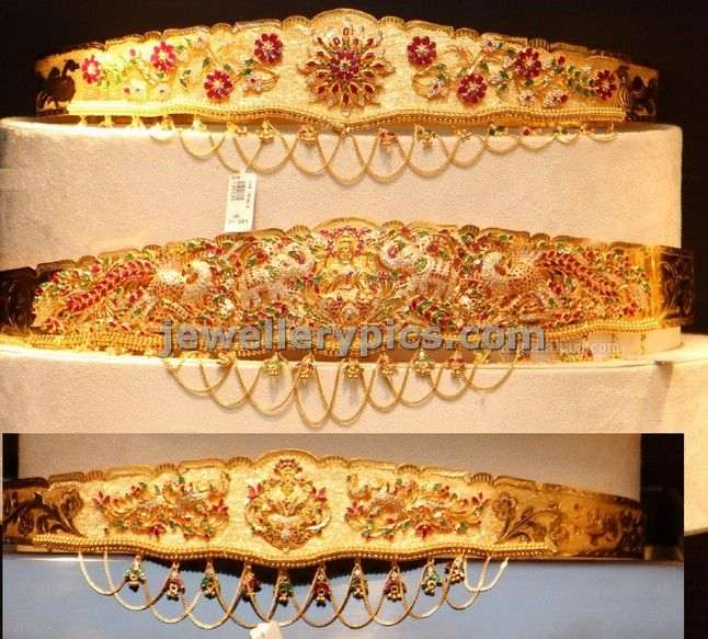 3 CMR jewellers vaddanam models in lght weight - Latest Jewellery Designs