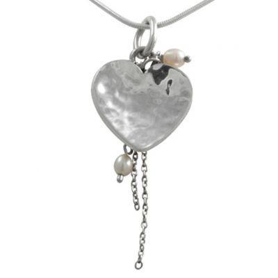 Jewellery :: .925 Silver :: Tia heart pendant - $75