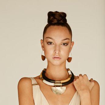 KALLMOON  Collar único de-estilo-africano. por havanaflamingo