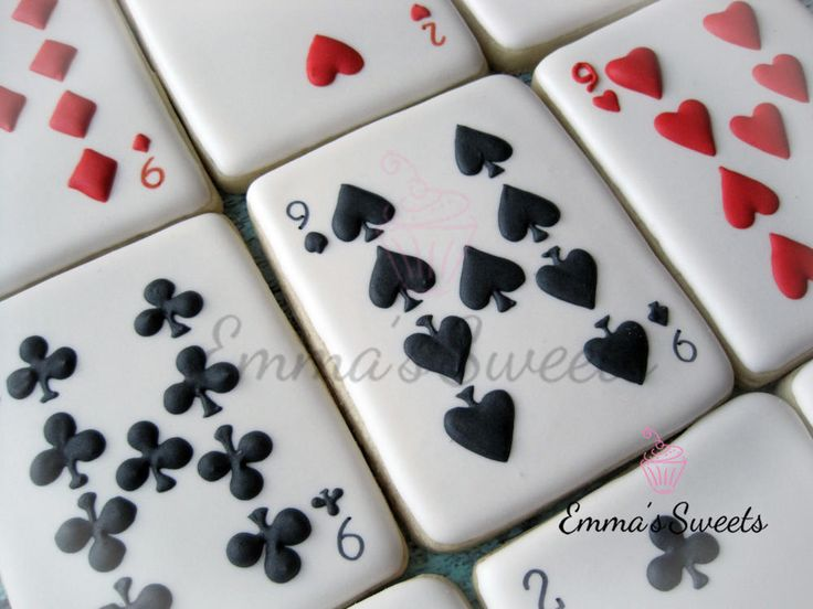 Decorated Sugar Cookies | Royal Icing | Deck of Cards Cookies | Card Game…