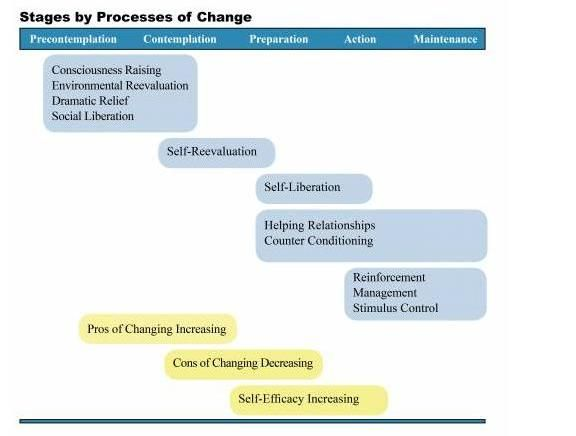 The 10 Processes of Change - Strategies for moving from one stage of change to another