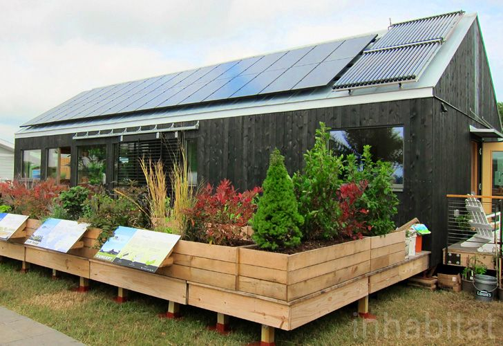 Self-Reliance is the 2011 Solar Decathlon entry from Middlebury College. Students focused on using local materials and incorporating space to grow food.