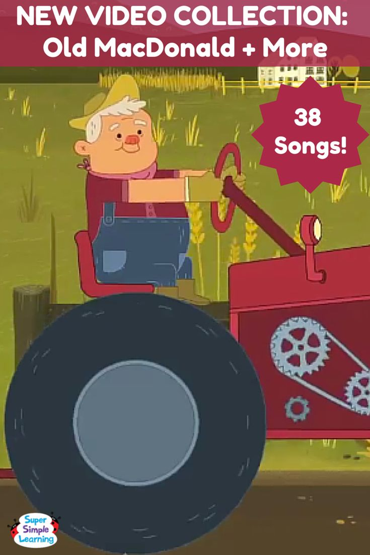 Old MacDonald Had A Farm + More   38 song video collection from Super Simple Songs. #prek #kindergarten #familyfriendly