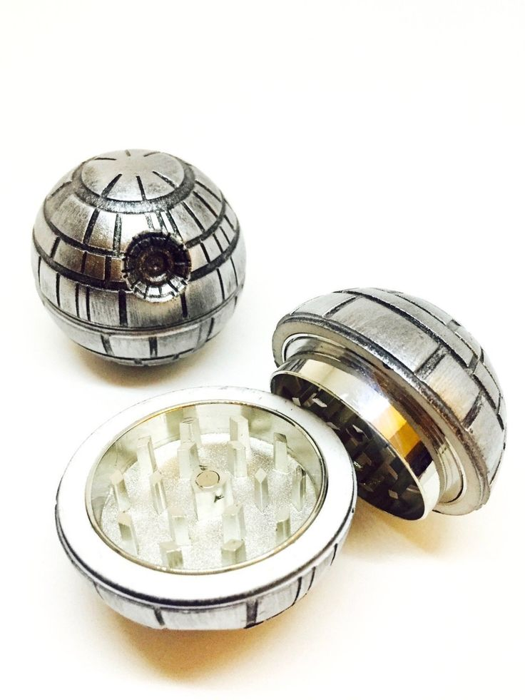 Death Star 3 Piece Herb Grinder With Pollen Scraper By Herb Life (Grinder is 2 Inches or 50 mm) -- Check out this great product.