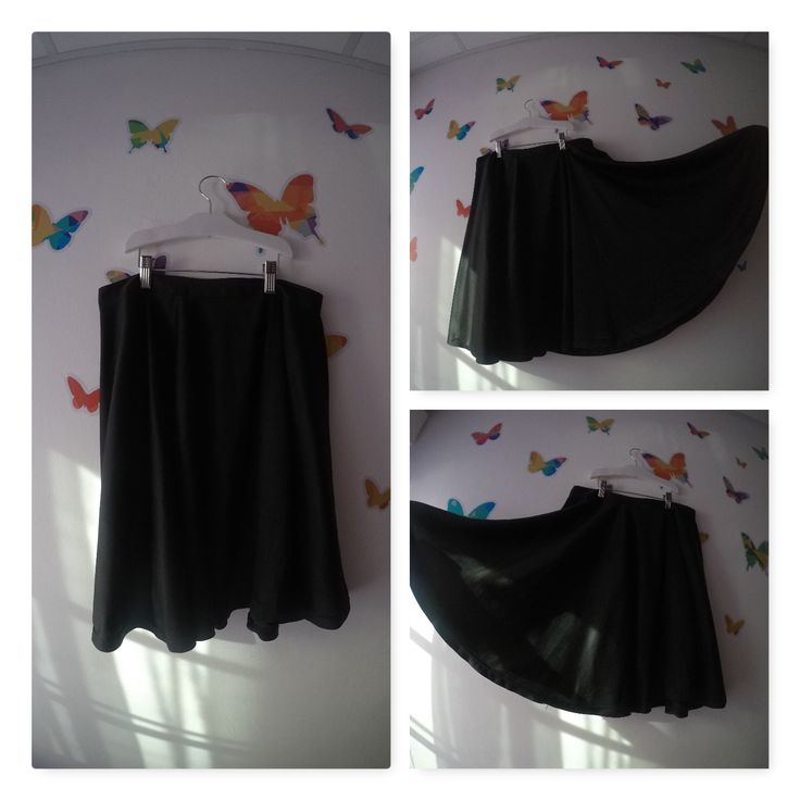 Pollera campana plato- negra.......#polleras #campanaplato #manualidadesjulieta #ropa #femenina #mujer