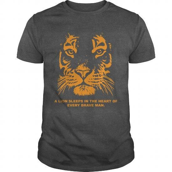 A lion sleeps in the heart of every brave man T-Shirts, Hoodies, Sweatshirts, Tee Shirts (19$ ==> Shopping Now!)