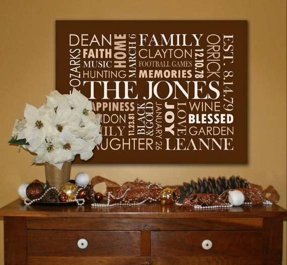 Wedding Gifts For USD200 : ... Art by TYPOGRFX, USD200.00. Great for family, wedding and baby gifts