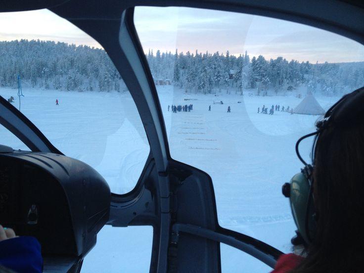 Fun Helicopter ride in Kiruna