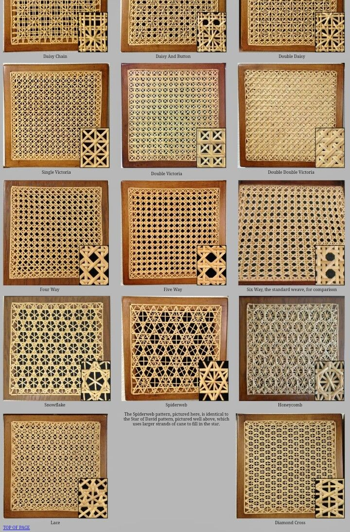 Caning Sample Patterns In 2020 Caning Woven Furniture Bamboo Crafts