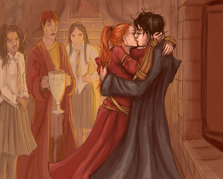 "muggleart:  ""Harry Kissed Her"" by uknow-who on deviantART [x]"