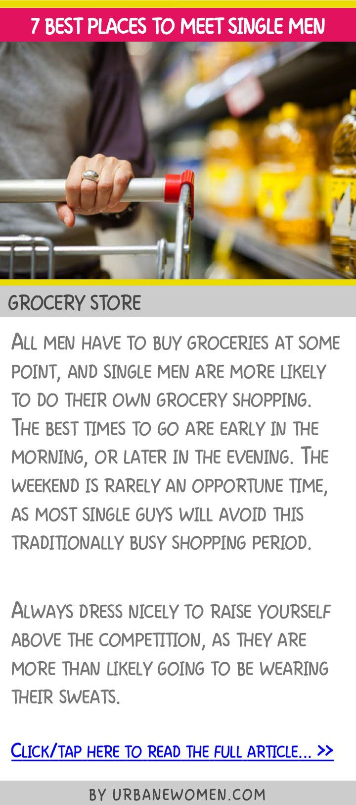 7 best places to meet single men - Grocery store