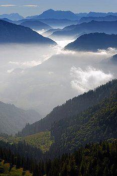 Hoher Göll Hohes Brett / Ristfeuchthorn and Unterberg from Hochfelln / Chiemgau Alps Bayern