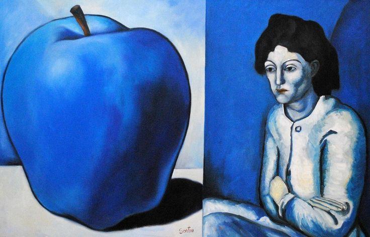 Blue Period  32x54 - Carmelo Sortino